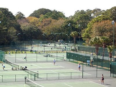 There are 10 Tennis Courts