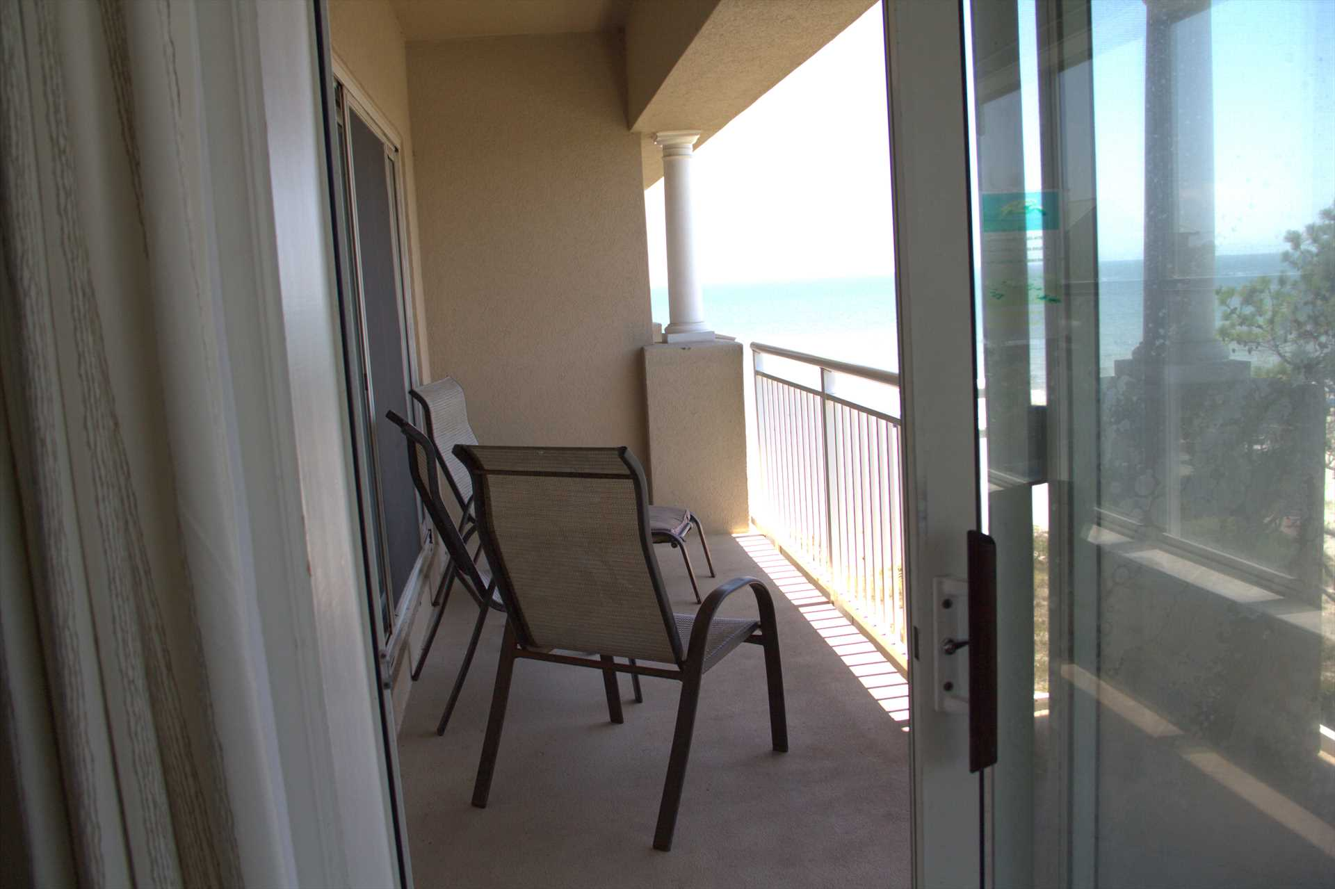 This balcony can be reached from the great room or the ocean