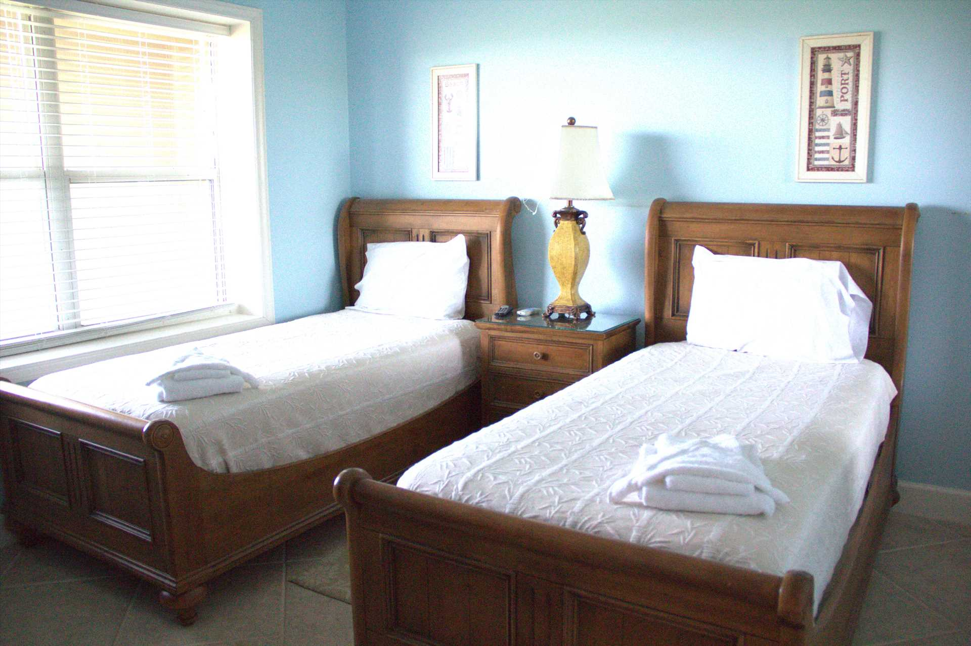 This is the 3rd bedroom it also has twin beds and toward the