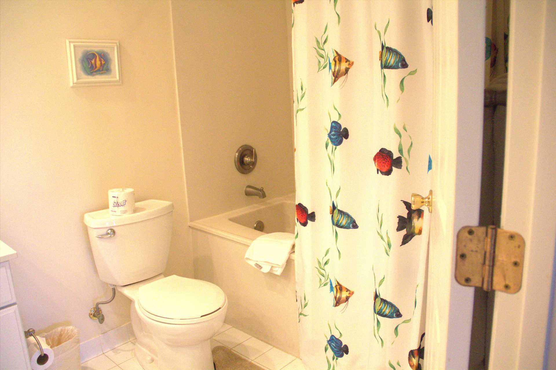 Across the hall from the 2nd bedroom is the 2nd full bath