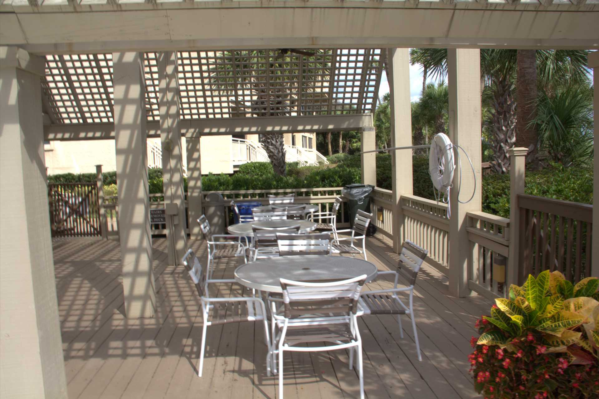 Covered area to have your meal at