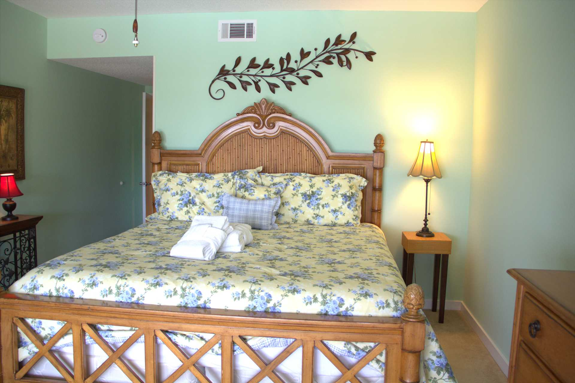New Bedspread on master bed